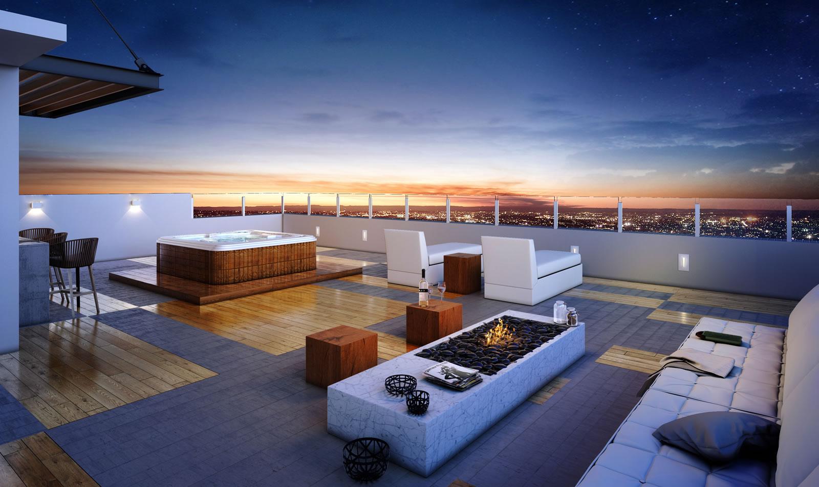 Rooftop Lareira Empreendimento Emilio